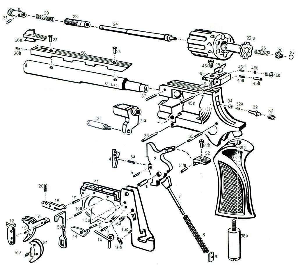 CDS - Ersatzteile Revolver Arminius HW9