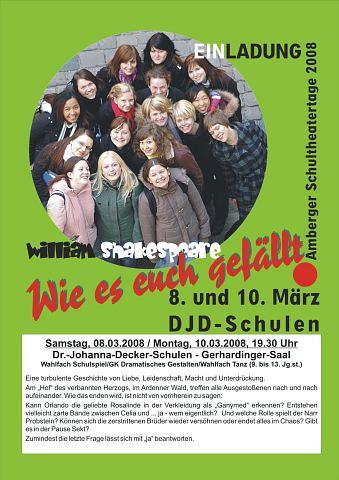 Theaterplakat März 2008