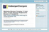 Amberger Chorgemeinschaft auf Twitter
